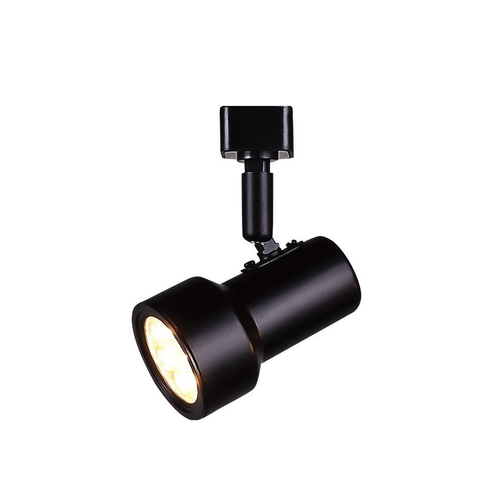 1-Light Black Integrated LED Mini-Step Linear Track Lighting Head
