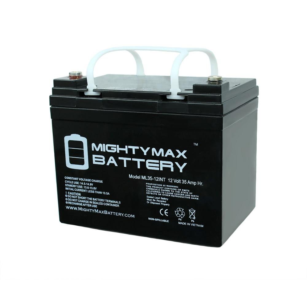 Mighty Max Battery 12 Volt 35 Ah Rechargeable Sealed Lead Acid (sla) Internal Thread Battery