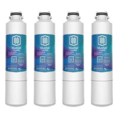Samsung Compatible DA29-00020B Refrigerator Water Filter by Blue Fall (4-Pack)