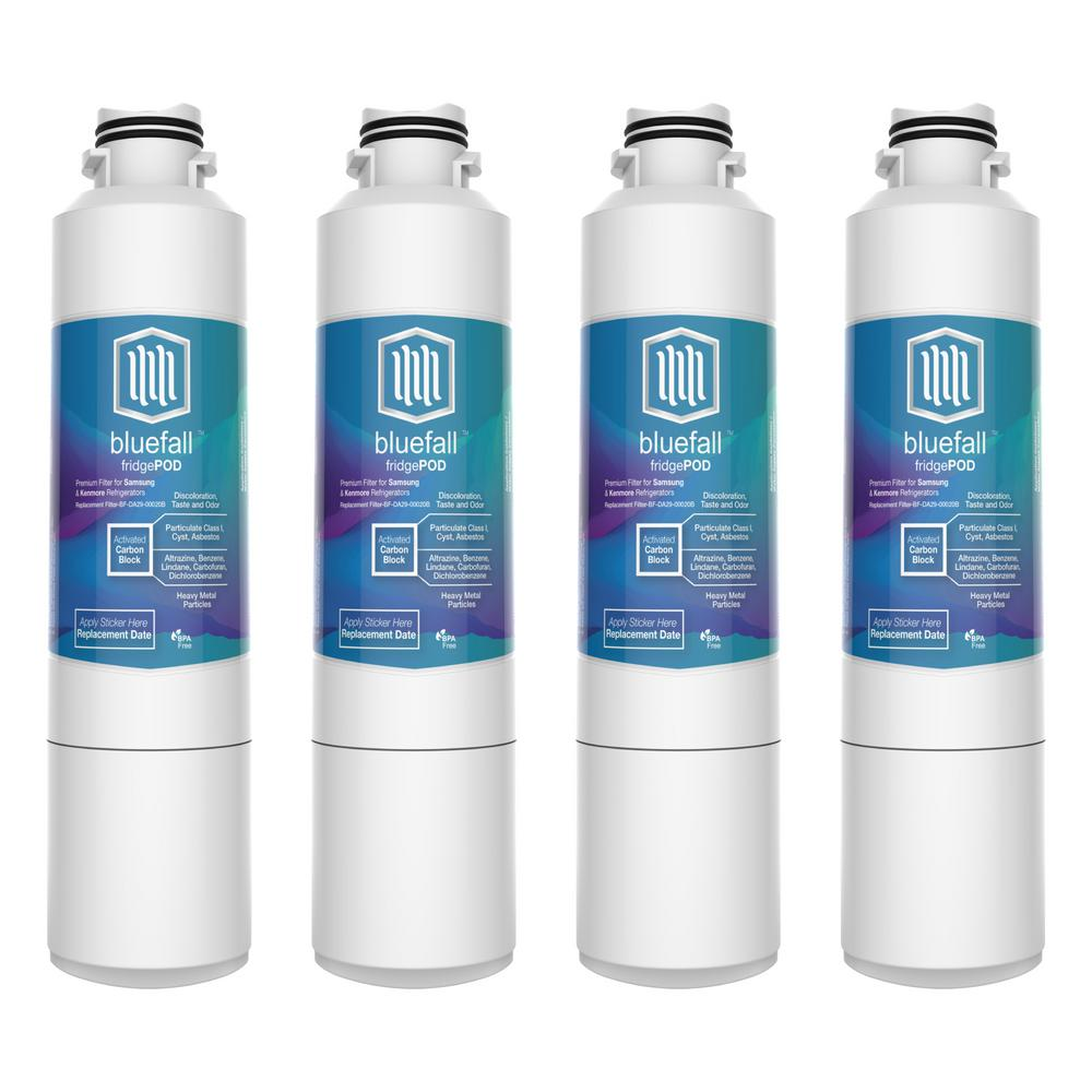 BLU LOGIC USA Compatible Samsung DA29-00020B Refrigerator Water Filter by Blue Fall (4-Pack)