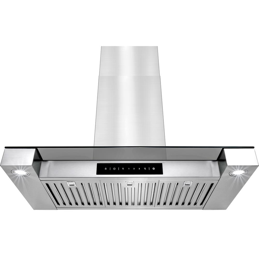 AKDY 36 in. Convertible Kitchen Wall Mount Range Hood in Stainless ...