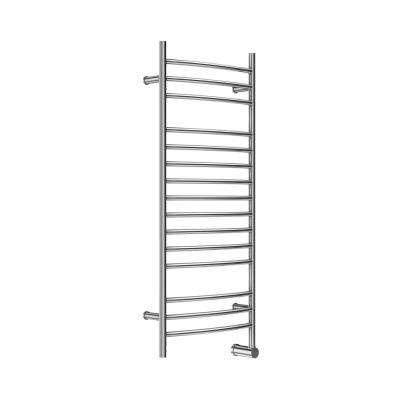 15-Bar Wall Mounted Electric Towel Warmer with Digital Timer in Stainless Steel Brushed