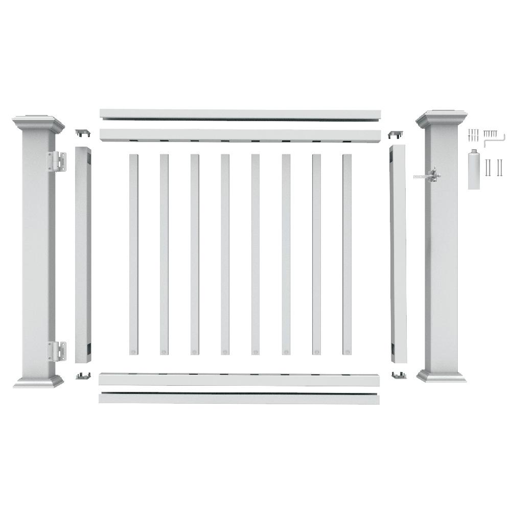 White Vinyl Rail Gate Kit