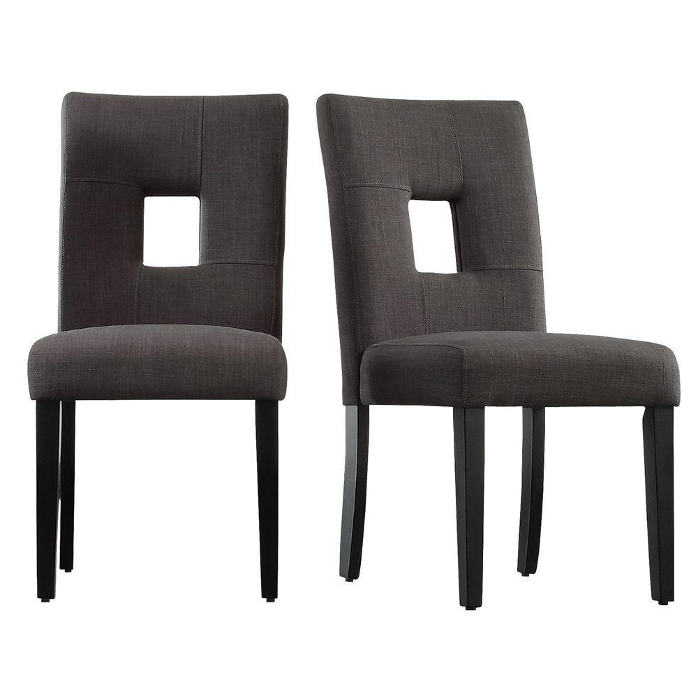 HomeSullivan Sorrento Charcoal Linen Dining Chair (Set of 2) 403270-S1DGL2PC