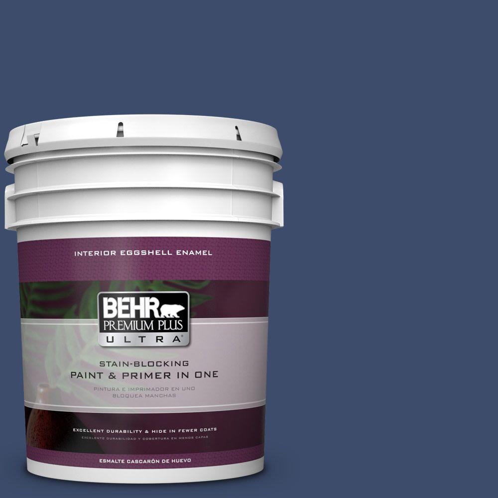 5 gal. #HDC-SM16-08 Blackberry Cobbler Eggshell Enamel Interior Paint