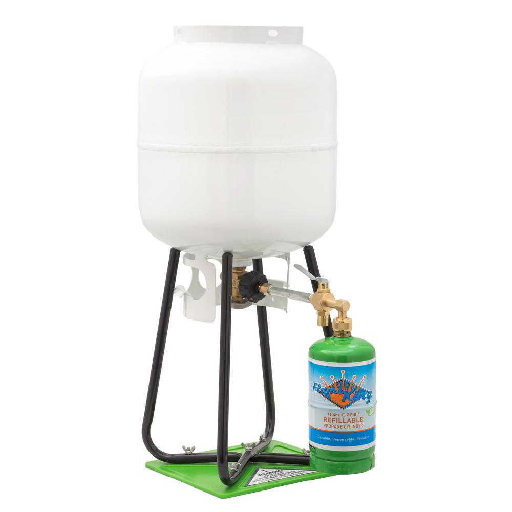 Flame King 1 lb. Refillable Propane Cylinder with Refill Kit