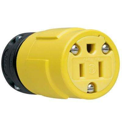 15 Amp 125-Volt Rubber Dust Tight Connector