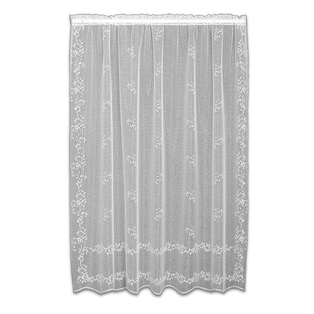 Heritage Lace Sheer Divine White Curtain 60 In W X 63 L