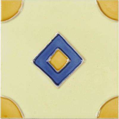 Hand-Painted Ceramic Rombo 6 in. x 6 in. x 6.35 mm Glazed Ceramic Wall Tile (2.5 sq. ft. / case)