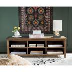 17.71 in. Oak Wood 6-shelf Etagere Bookcase with Drawers
