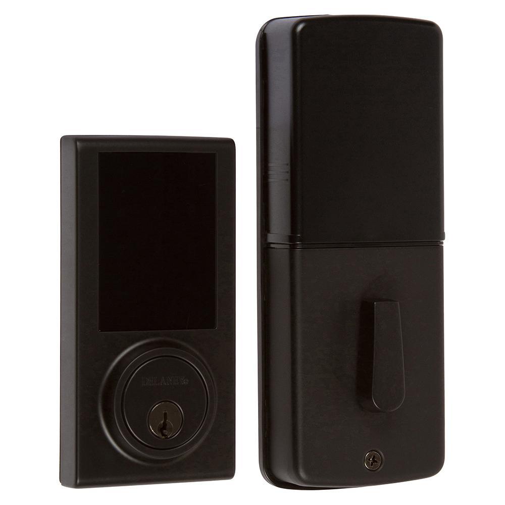Black Digital Touchscreen Single Cylinder Deadbolt