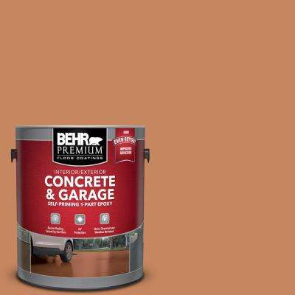 1 gal. #PFC-17 Rusty Orange Self-Priming 1-Part Epoxy Interior/Exterior Concrete and Garage Floor Paint