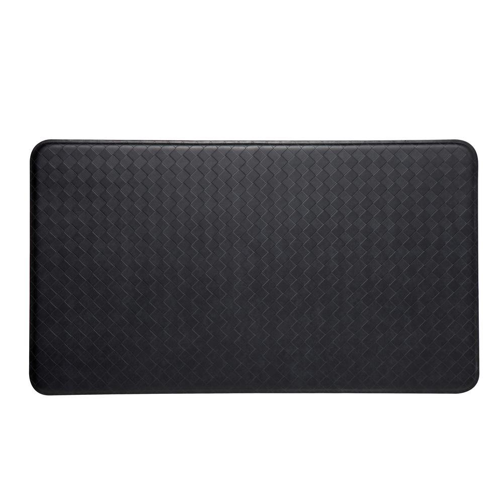 Nantucket Black 20 in. x 36 in. Anti-Fatigue Comfort Mat