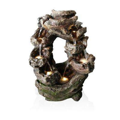 Rainforest Tiered Rock Cascading Fountain with LED Lights