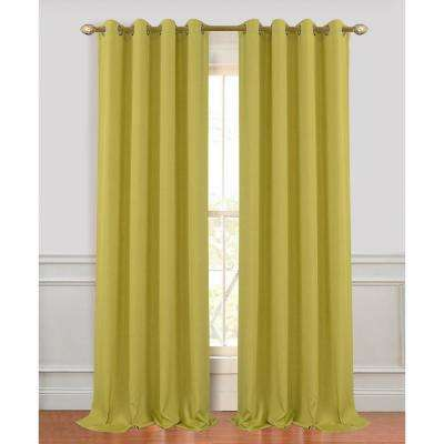 Madison 96 in. Sage Green Polyester Extra Long and Wide Linen Look Window Curtain Panel (2-Pack)