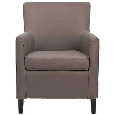 Chet Mocha/Black Cotton Blend Arm Chair