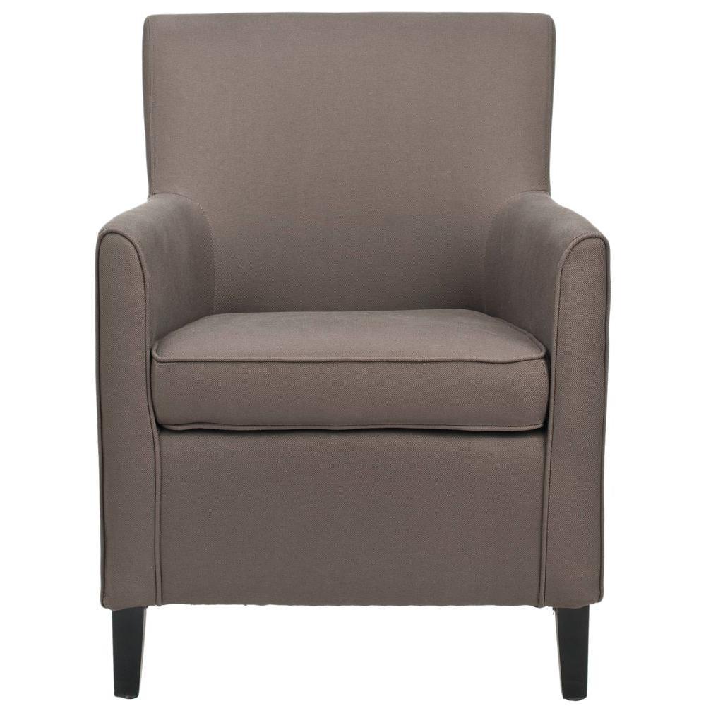 Safavieh Chet Mocha/Black Cotton Blend Arm Chair MCR4554A