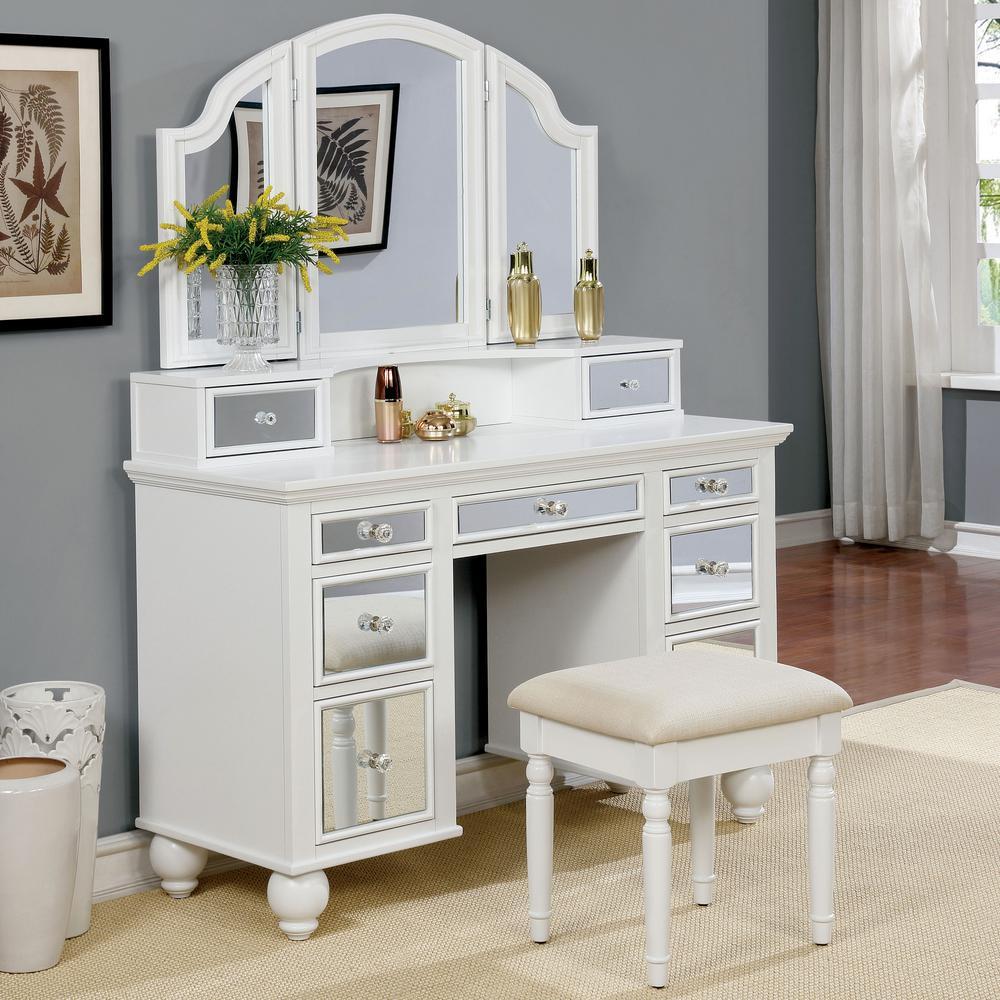Furniture Of America Serena 2 Piece White Mirror Panel