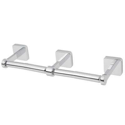 Kubos Double Toilet Paper Holder in Polished Chrome