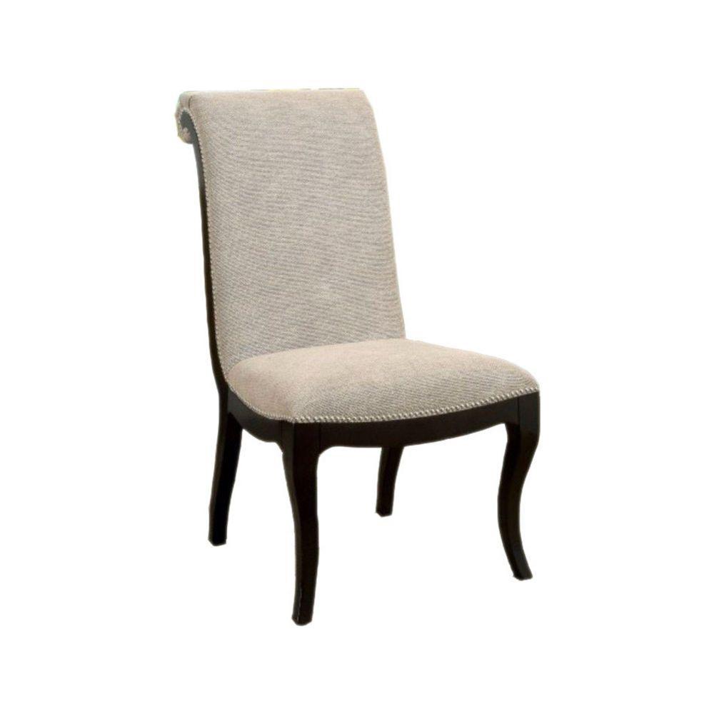 Contemporary Espresso Side Chair (Set of 2)