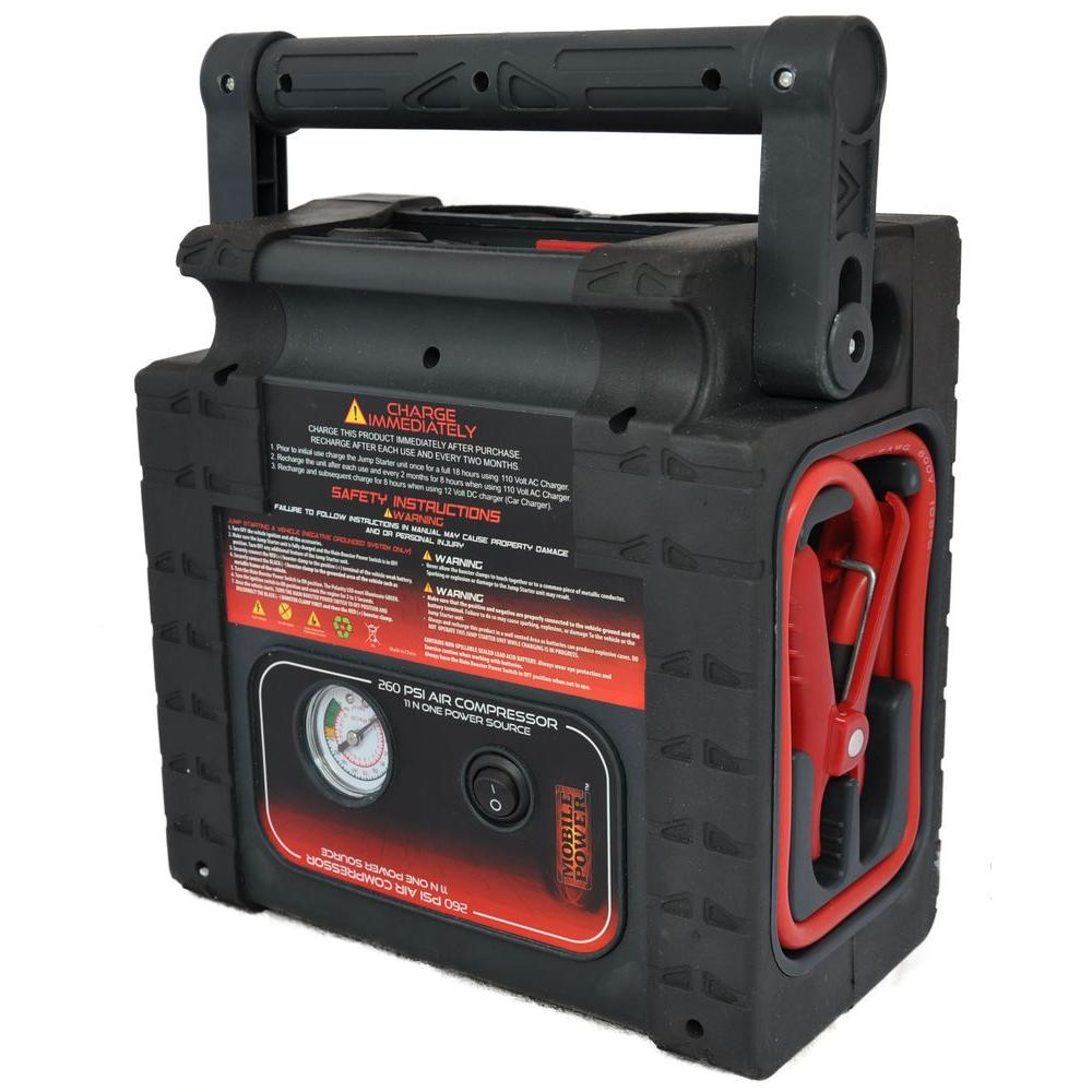 Mobile Power Quickboost 8-in-1 12-Volt Multi Purpose Jumpstarter with Air Compressor and Power Source with USB-DISCONTINUED