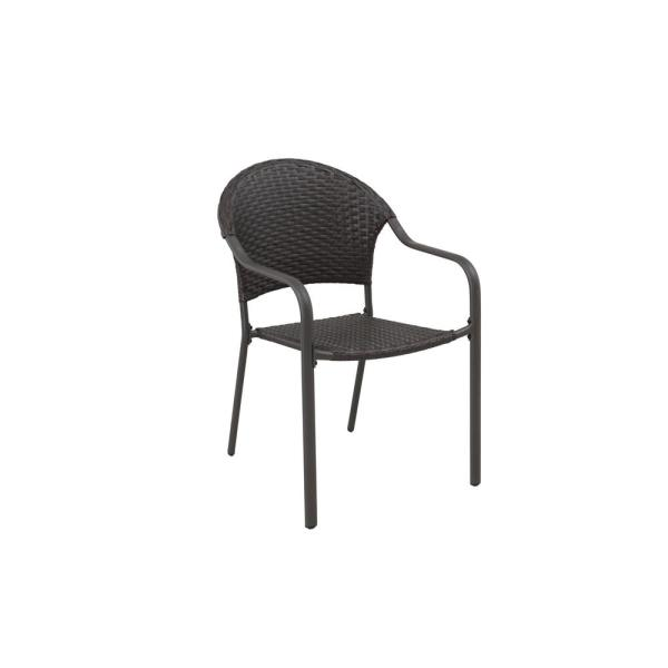 Stylewell Mix And Match Brown Stationary Wicker Outdoor Patio Dining Chair 2 Pack A211023500 The Home Depot
