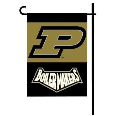 NCAA 13 in. x 18 in. Purdue 2-Sided Garden Flag Set with 4 ft. Metal Flag Stand