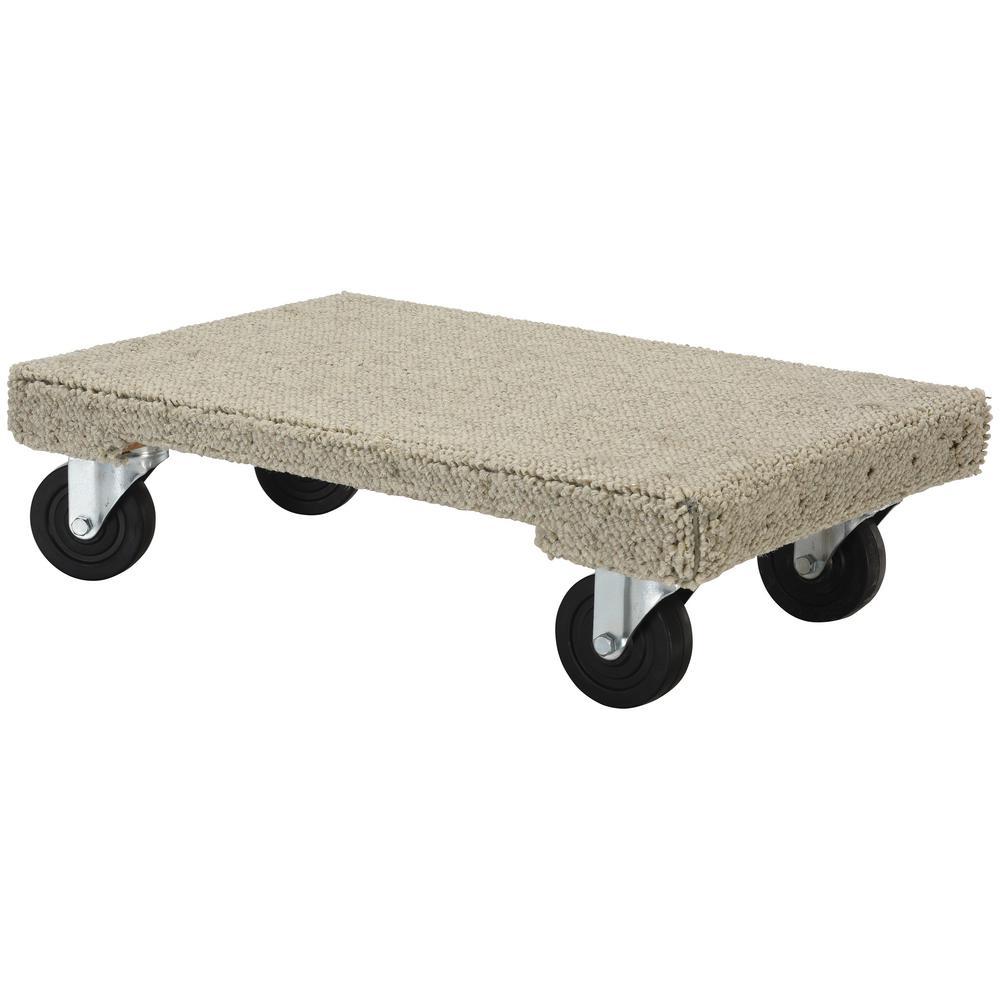 Tan 24 x 36 1200 lb Capacity Vestil HDOSC-2436-12 Carpeted Hardwood Dolly
