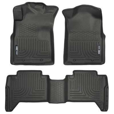 Front & 2nd Seat Floor Liners Fits 05-15 Tacoma Double Cab