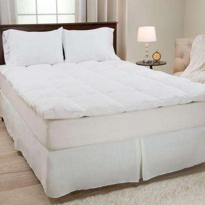 King Size 2 in. H 100% Duck Feather Mattress Topper