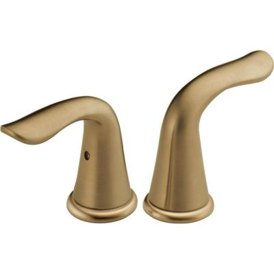 Lahara Lever Handles for Bathroom Faucets in Champagne Bronze