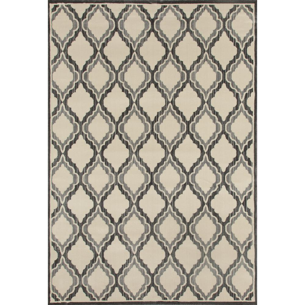 Milan Hopscotch Gray 6 ft. 7 in. x 9 ft. 2 in. Area Rug