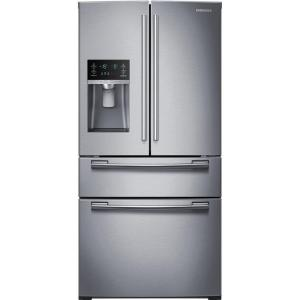 Click here to buy Samsung 33 inch W 24.73 cu. ft. 4-Door French Door Refrigerator in Stainless Steel by Samsung.