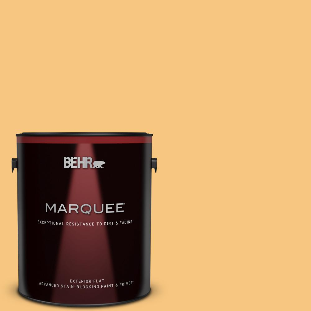 Reviews For Behr Marquee 1 Gal Ppu6 07 Jackfruit Flat Exterior Paint Primer 445401 The Home Depot
