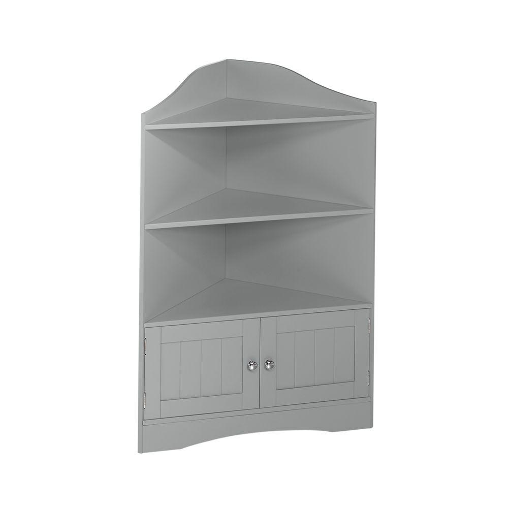 RiverRidge Home Ashland Collection 24-4/5 In. W X 36 In. H Corner Bathroom Linen Storage Cabinet