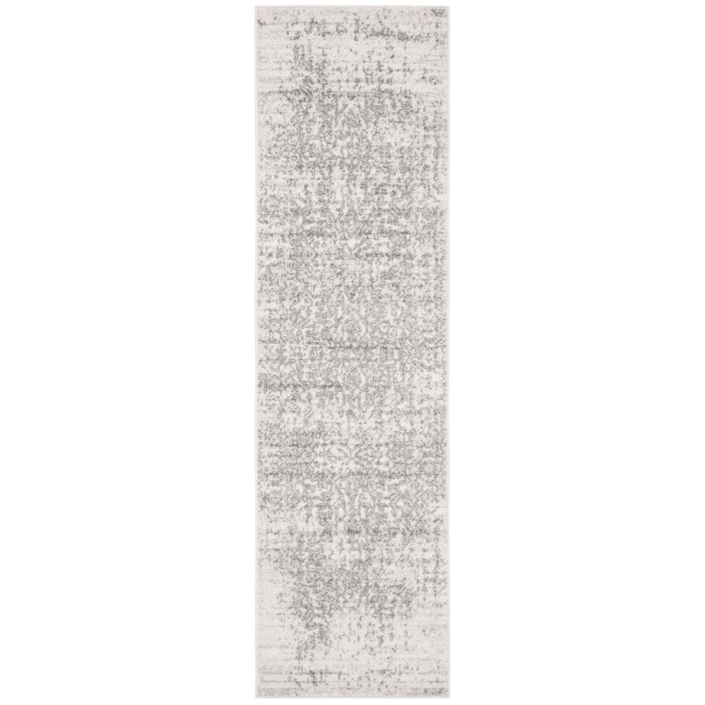 Madison Silver/Ivory 2 ft. x 18 ft. Runner Rug
