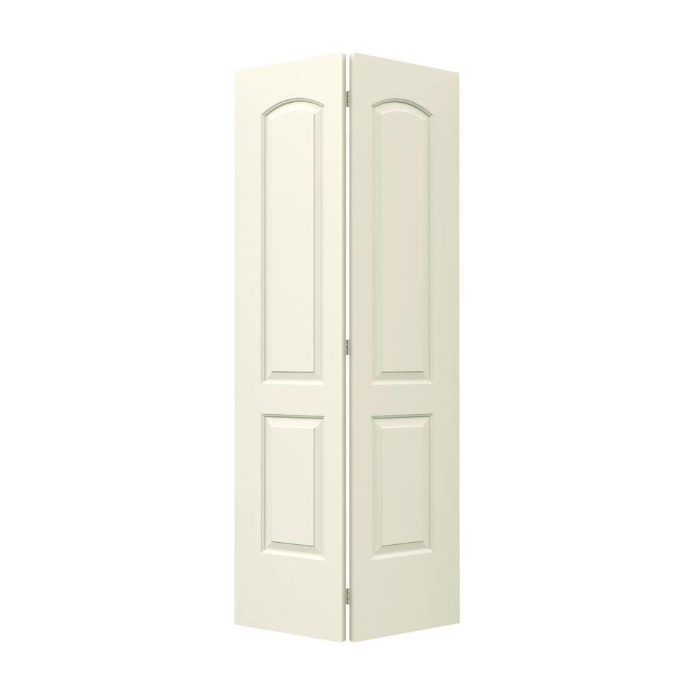 36 in. x 80 in. Continental Vanilla Painted Smooth Molded Composite