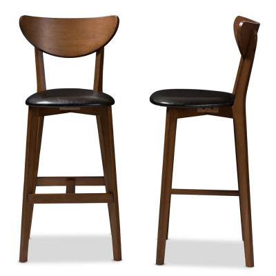 Eline 29 in. Black Bar Stool (Set of 2)