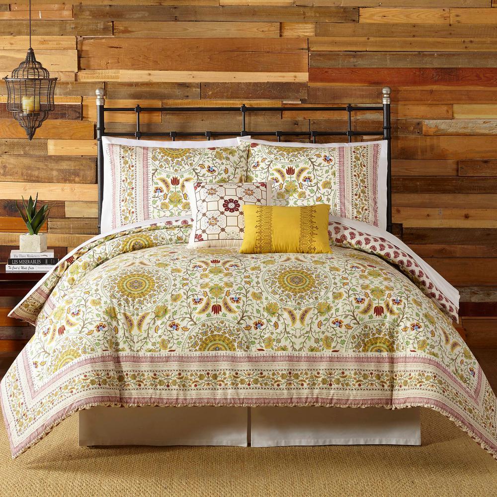 China Kitchen Austin Tx: INDIGO BAZAAR Joanne 5- Piece Red Queen Comforter Set