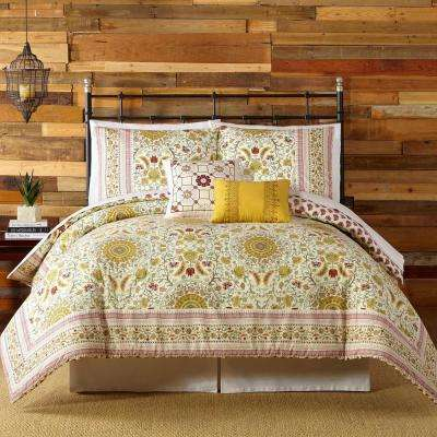 Joanne 5- Piece Red Queen Comforter Set