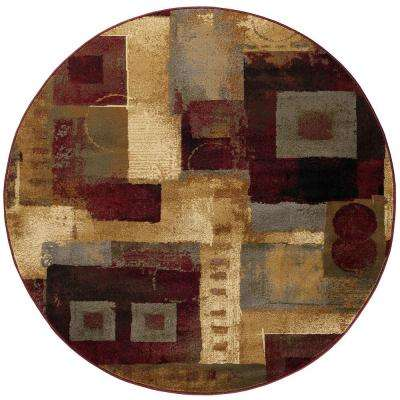 Impressions Multi 5 ft. 3 in. x 5 ft. 3 in. Round Indoor Area Rug