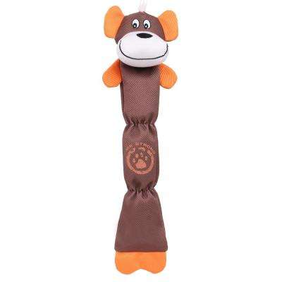 Brown Extra Long Dura-Chew Reinforce Stitched Durable Water Resistant Plush Chew Tugging Dog Toy