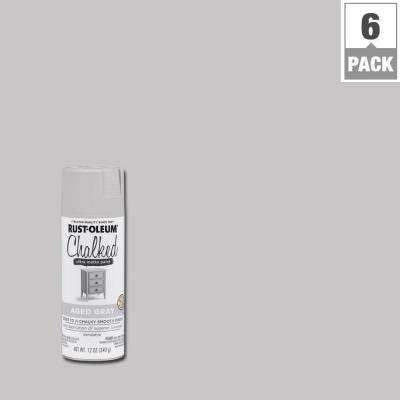 Chalked Aged Gray Ultra Matte Spray Paint 6 Pack
