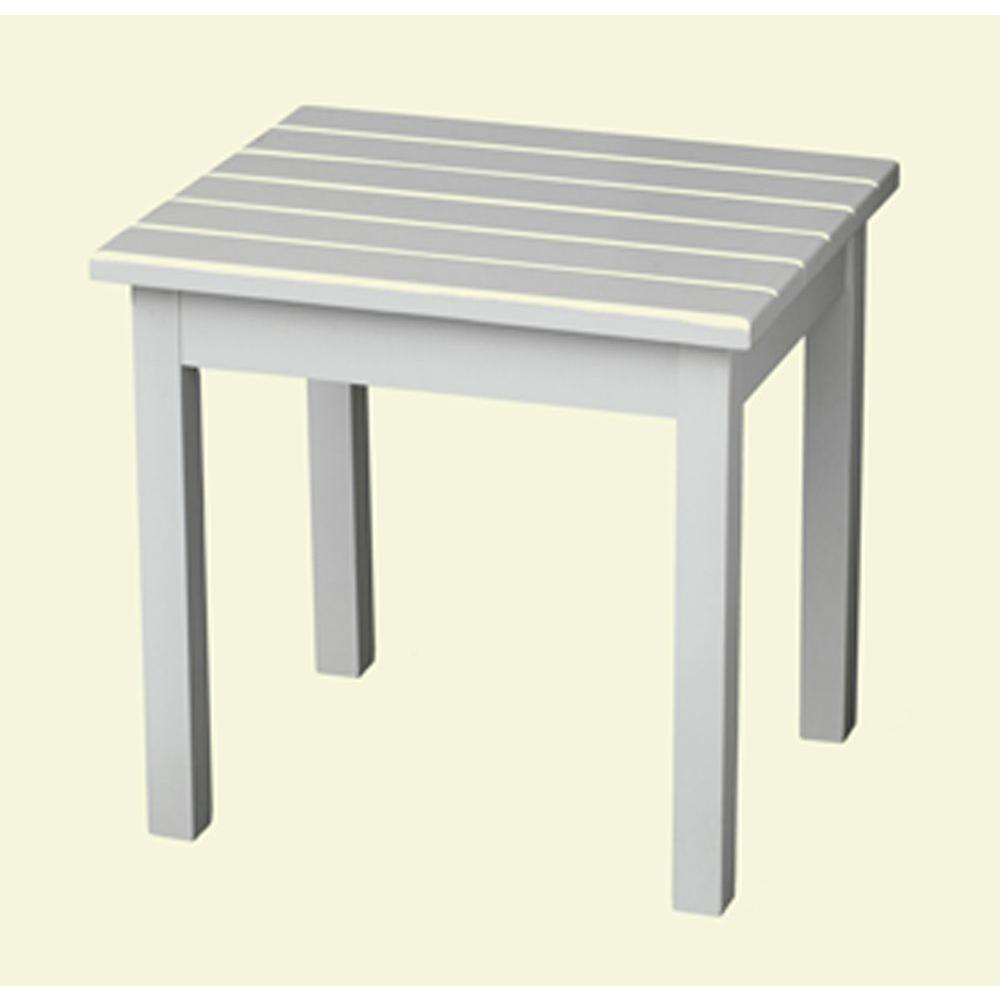 white patio side table 50etw rta the home depot. Black Bedroom Furniture Sets. Home Design Ideas