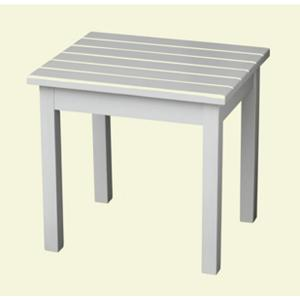 & White Patio Side Table-50ETW-RTA - The Home Depot