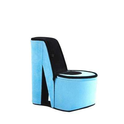 9 in. High Heel Shoe Turquoise Blue Velvet Hidden Jewelry Box