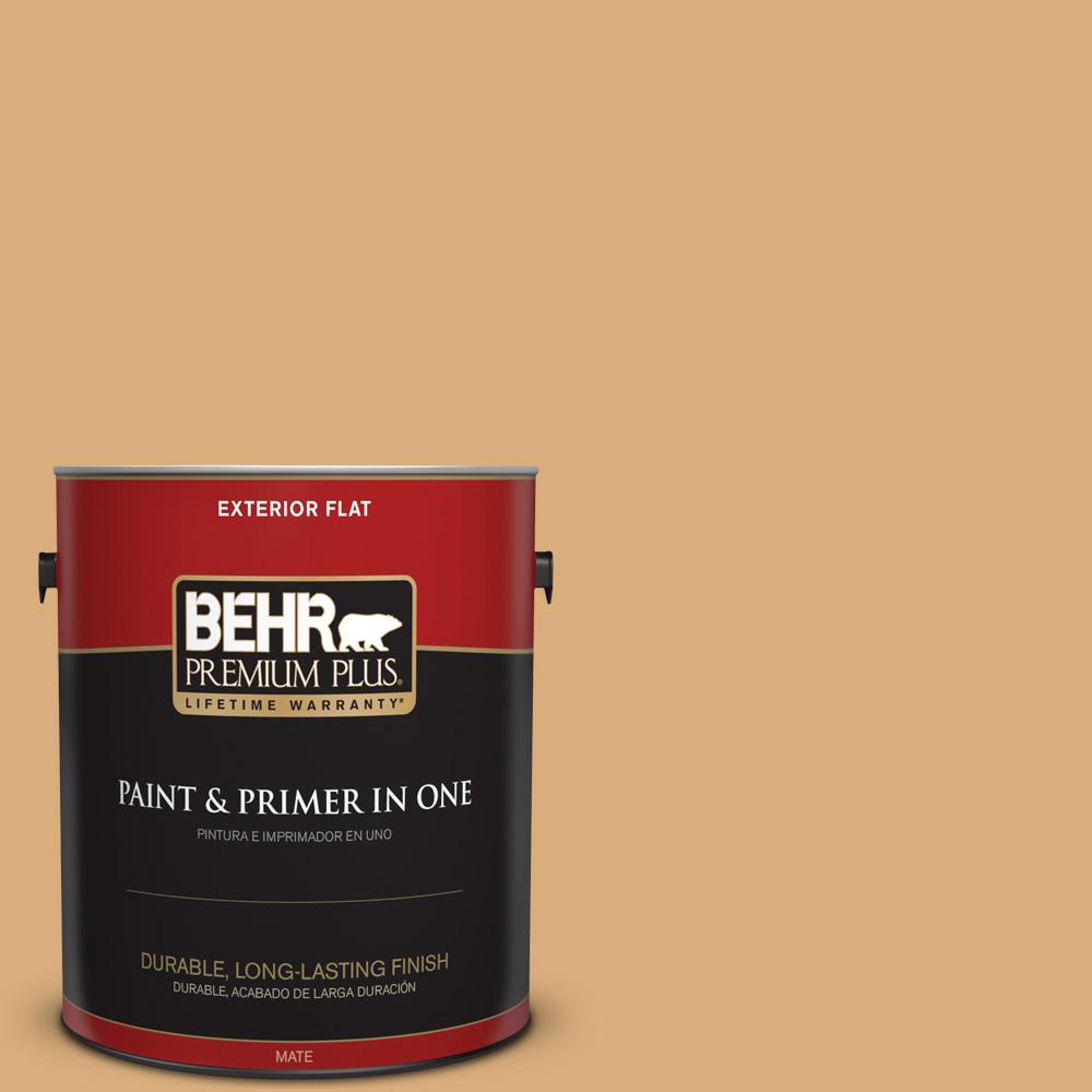 1 gal. #PPU6-05 Cork Flat Exterior Paint