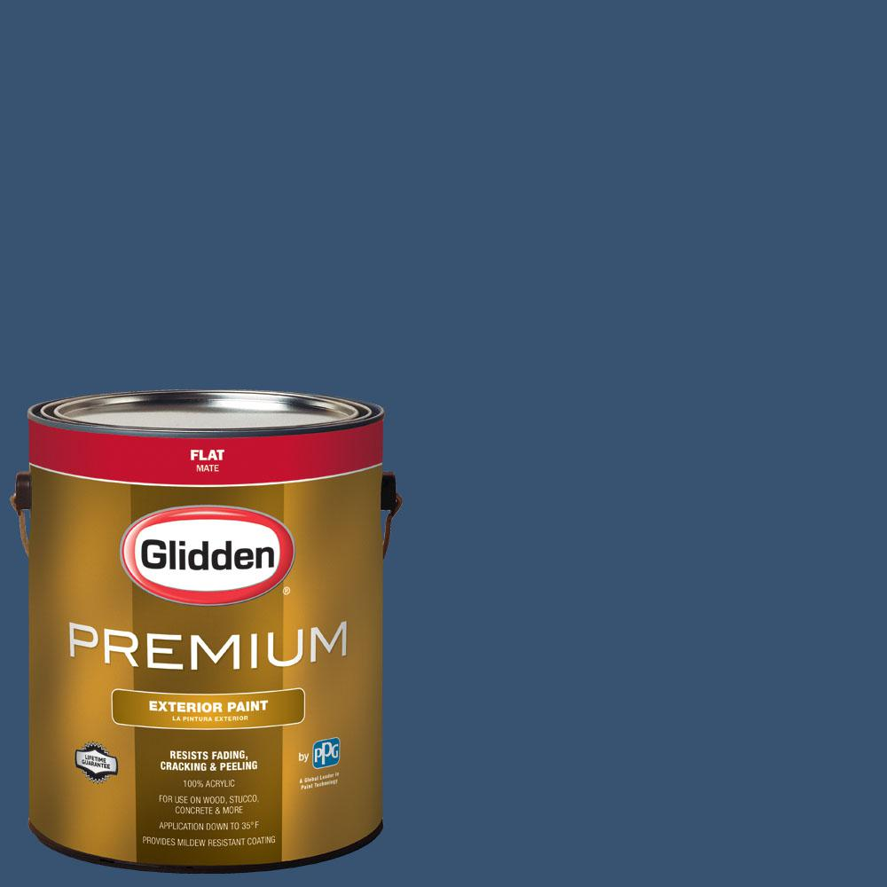 Glidden Premium 1 Gal Nfl 173b Indianapolis Colts Royal Flat Exterior Paint Nfl173bf01px The
