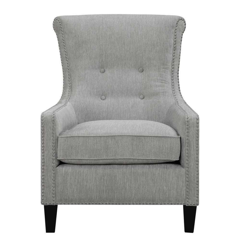 Merveilleux Roger Mercury Accent Chair