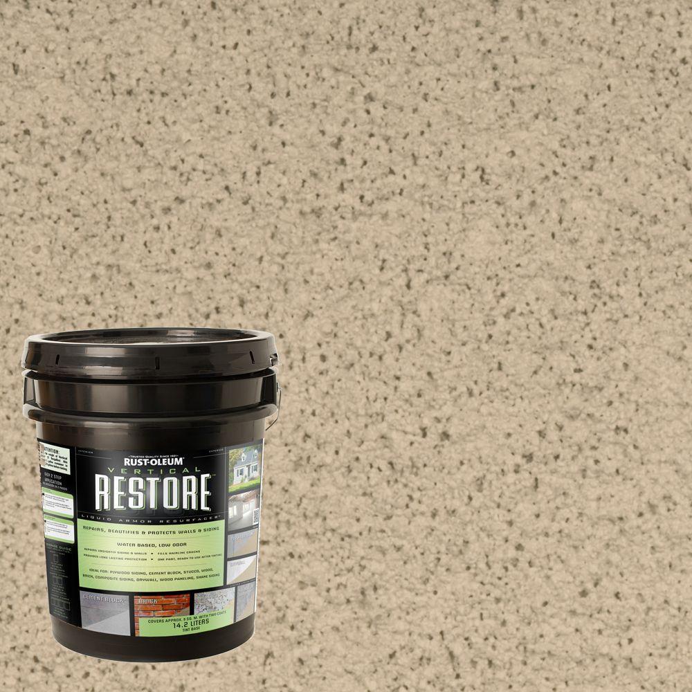 Rust-Oleum Restore 4-gal. Rattan Vertical Liquid Armor Resurfacer for Walls and Siding